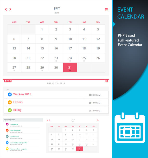 Event Calendar Php : Caledonian pro php event calendar scripts codecanyon