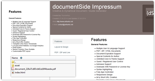 documentSide PDF - ZIP and Live Documents
